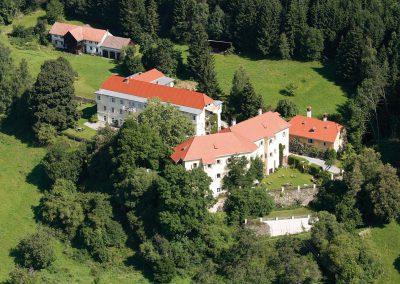 Luftansicht des Landsitz Pichlschloss