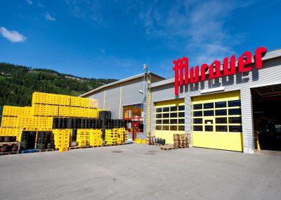 Gebäude des Logistikzentrums der Murauer Brauerei